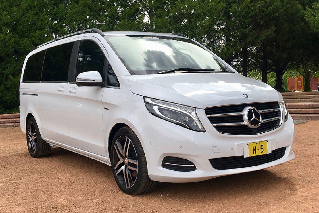 Mercedes Benz V Class Van White Valley Limousines